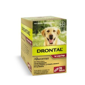drontal large dog tablets 70 pack