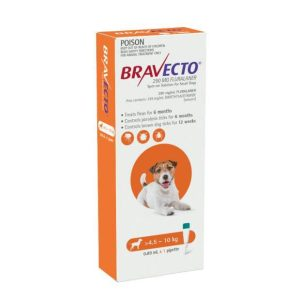 Bravecto Spot On Small Dog Orange