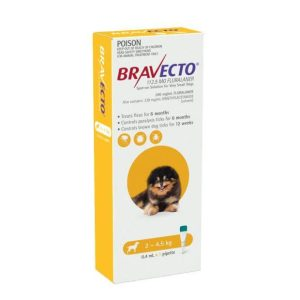 Bravecto Spot On Very Small Dogs Yellow
