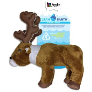 Spunky Pup Clean Earth Caribou Dog Toy