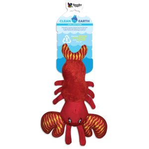 Spunky Pup Clean Earth Plush Lobster Dog Toy