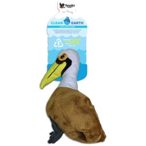 Spunky Pup Clean Earth Plush Pelican Dog Toy